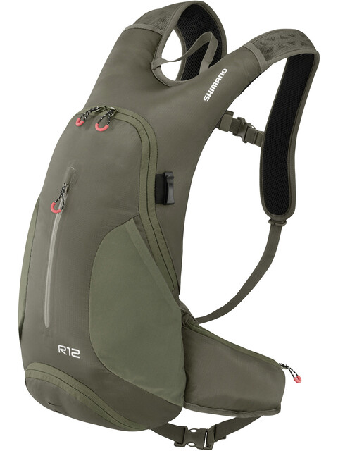 Shimano Rokko II Backpack 12 L Olive Green